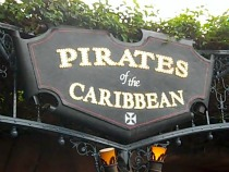 Disneyland Pirates of the Caribbean ride sign, ©www.my-disneyland-vacation.com