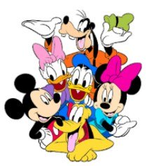 www.my-disneyland-vacation.com clip art with mickey mouse and gang